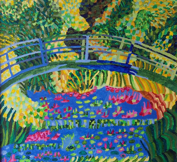 Bridge of Dreams - Homage to Monet