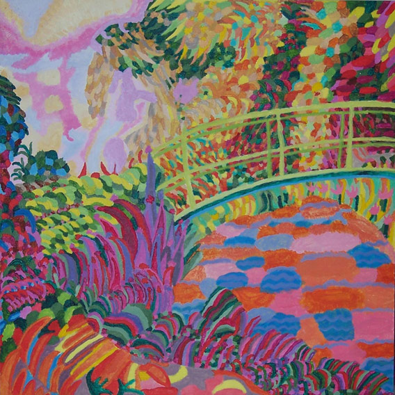 The Green Bridge - Homage to Monet