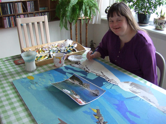 This is me working on my latest sea-scape