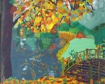 Autumn, £250: Acrylic 40 x 50 cms