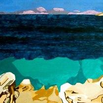 Le Grand Bleu, £250: Acrylic 40 x 50 cms