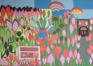 Our Garden - 2, £750: Card on Card 84 x 59 cms