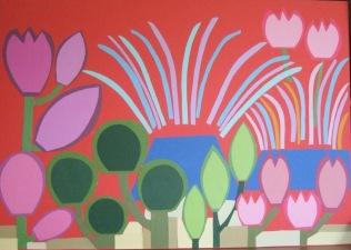 Our Garden - 3, £750: Card on Card 84 x 59 cm