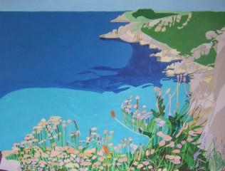 Porthchapel Beach, £3500: Acrylic 100 x 75 cms