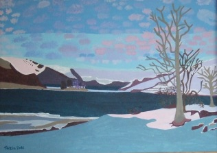 Snow in Norway - 4, £1250: Acrylic 70x50 cms