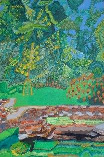 Spring, £250: Acrylic 60 x 40 cms